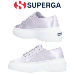 Superga • platform metallic lilac sneakers